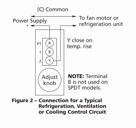 Thermostat Wired for Cooling